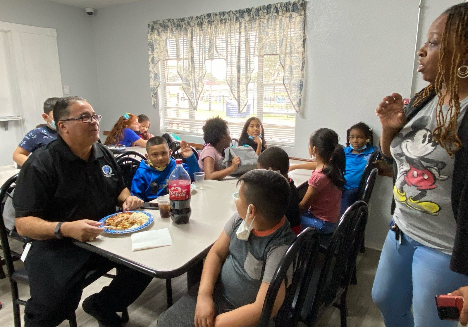 Pastor Eating with Elementary